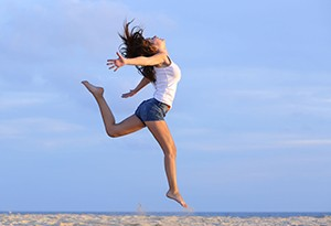 woman jumping small